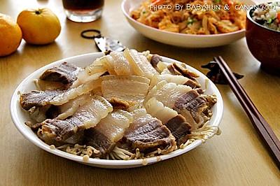 咸肉蒸#金龙鱼外婆乡小榨菜籽油 最强家乡菜#