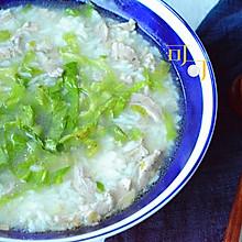 肉丝菜泡饭:夏日清淡汤泡饭