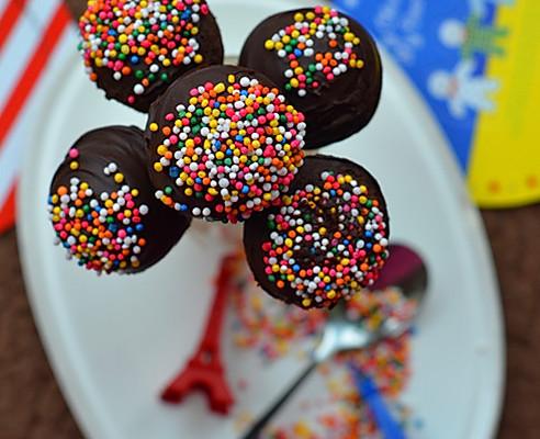 布朗尼棒棒糖蛋糕的做法