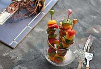 沙茶彩椒鸡肉串的做法