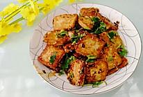 #新春美味菜肴#完爆路边摊的香煎孜然豆腐的做法