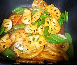#下饭红烧菜#茄汁藕片的做法