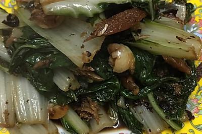 豆豉鲮鱼炒猪乸菜