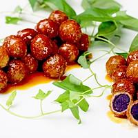 """茄汁紫薯球#""""宴""""遇灵山,拈花品素#的做法图解18"""