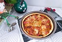虾仁火腿披萨(八寸)的做法