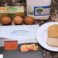 曼步厨房 - 快手早餐 - 烟熏三文鱼鸡蛋三明治的做法图解1
