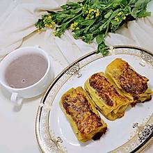 #换着花样吃早餐#豆皮菠菜肉卷