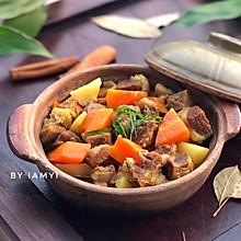 #快手又营养,我家的冬日必备菜品# 咖喱牛腩