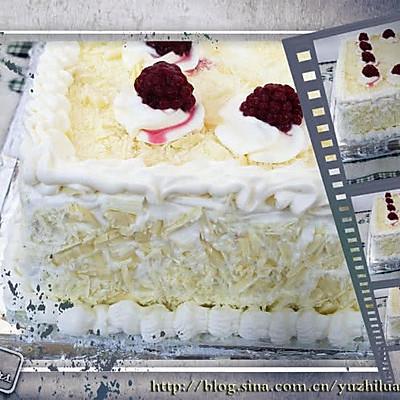 蜜豆白森林戚风蛋糕