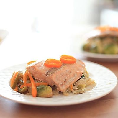 法式烤纸蒸鱼