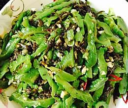 橄榄菜凉拌苦瓜的做法