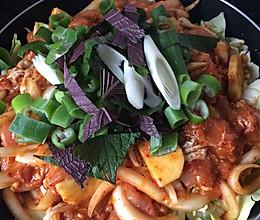 韩式辣炒鸡肉的做法