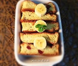 #下午茶甜点#蔓越莓香蕉糯米糕的做法