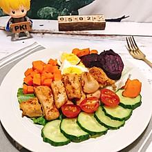 #美食视频挑战赛#减脂沙拉:鸡胸肉烤薯蔬菜沙拉