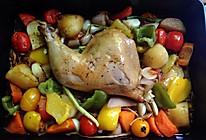 蒜香鲜蔬烤鸡腿的做法