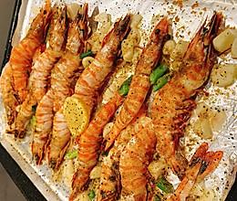 蒜柠盐烤虎虾的做法