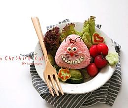 #童年不同样,美食有花样#柴郡猫三角饭团的做法