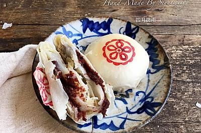 麻薯玫瑰豆沙酥