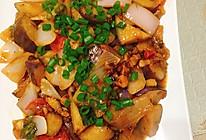 肉末烧茄子块的做法