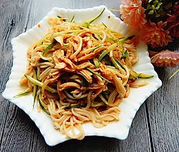 黄瓜鸡丝凉拌米线的做法