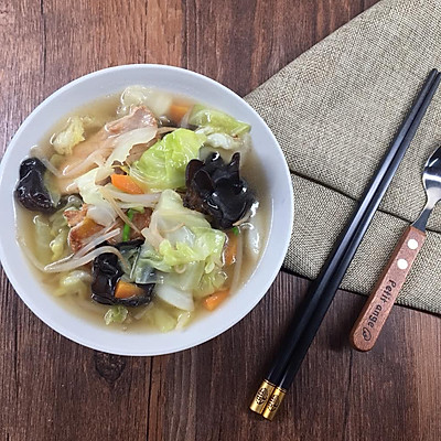 蔬菜汤-释放一天的胃