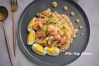 藜麦虾仁蔬果沙拉#中粮我买,真实惠才是食力派#