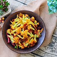 五花肉干煸有机花菜-在家做出饭店的味道#一机多能 一席饪选#的做法图解25