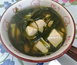 无油低盐海带豆腐汤的做法
