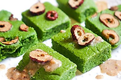 低脂|菠菜山药糕点
