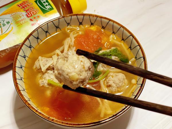 番茄鸡肉丸子汤的做法