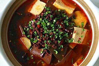 砂锅鸭血豆腐