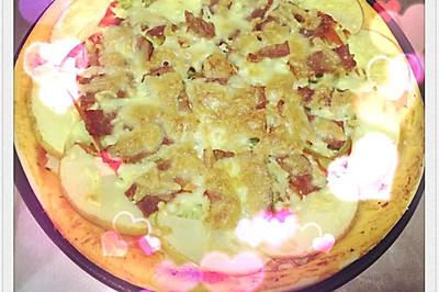 下雪啦!在家吃披萨温暖一下!
