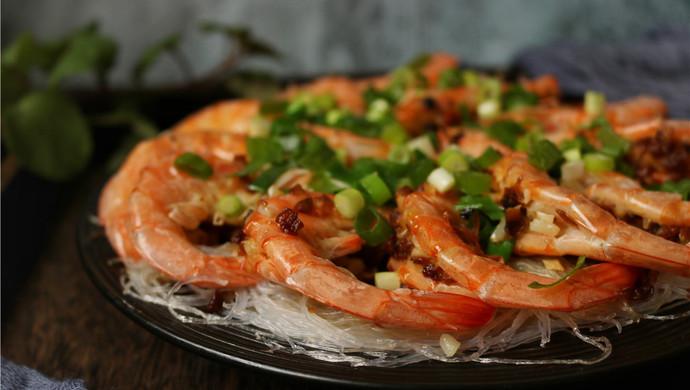 蒜末粉丝蒸虾
