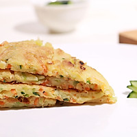 黄瓜早餐饼的做法图解9