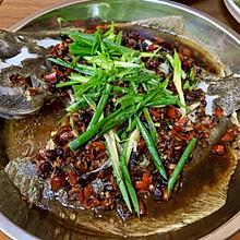 豆豉蒸多宝鱼