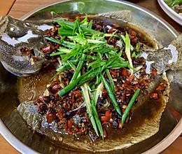 豆豉蒸多宝鱼的做法