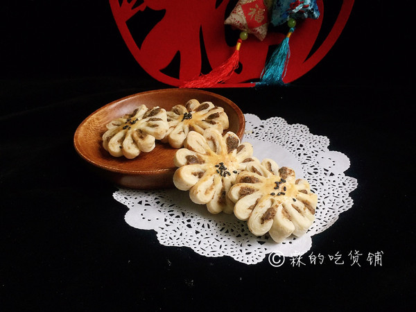#年味十足的中式面点#中式菊花酥的做法