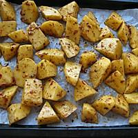 追剧零食——烤薯角的做法图解3