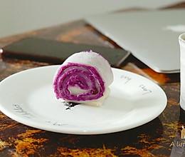 不孤独的小食--软糯香甜紫薯卷的做法