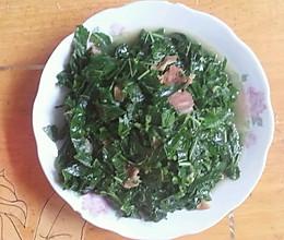 五花肉炒桑叶的做法