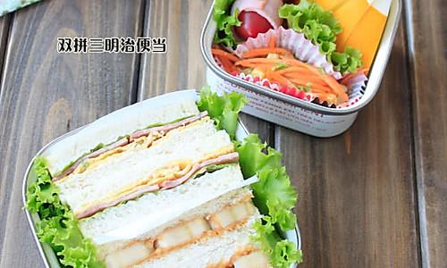 双拼三明治便当的做法