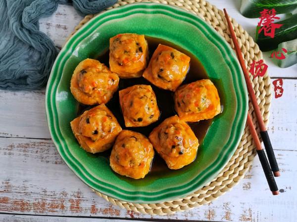 ㊙️在家也能做的经典名菜~油豆腐酿肉❗的做法