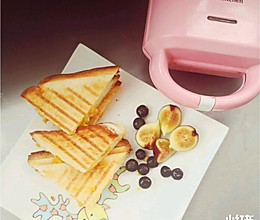 芒果爆浆三明治#麦子厨房#麦子厨房早餐机的做法