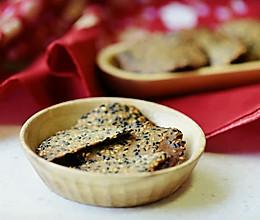 芝麻薄脆瓦片酥——消耗剩余蛋白的做法