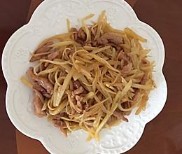 土豆丝炒肉的做法