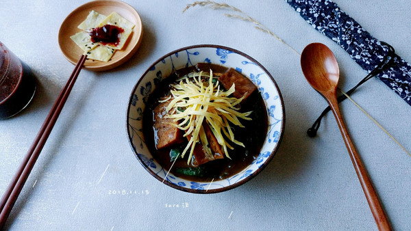 酱酱酱菇粉烩菜的做法