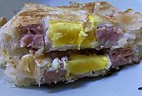 午餐肉鸡蛋手抓饼的做法