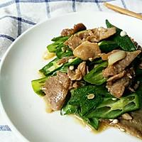 秋葵炒肉片#太太乐鲜鸡汁中式#的做法图解9