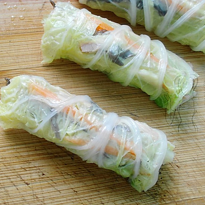 蒸白菜卷 #方太蒸爱行动#的做法 步骤6