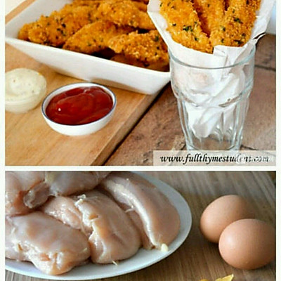 超诱人的玉米片脆皮烤鸡的做法 步骤1